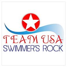 Swim Team USA Poster