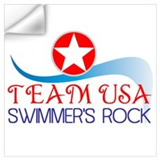 Swim Team USA Wall Decal