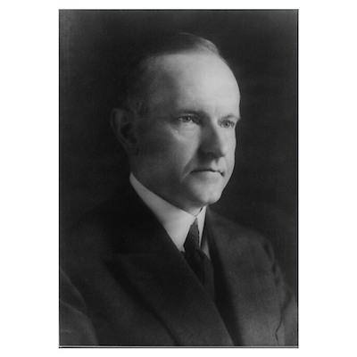 President Calvin Coolidge Poster