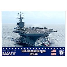 USS Ronald Reagan CVN-76 Poster