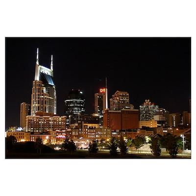 Nashville Night Poster
