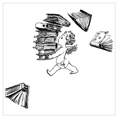 Cherub carrying books Poster
