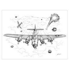B-17 Flying Fortress Canvas Art