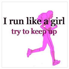 I run like a girl Framed Print