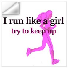 I run like a girl Wall Decal