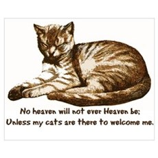 No Heaven Without Cats Framed Print