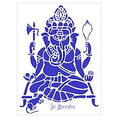 Jai Ganesh (Blue) Poster