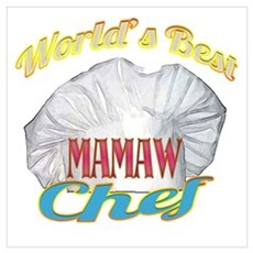World's Best Mamaw / Cook Poster