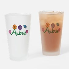 Aubrie Flowers Drinking Glass