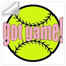 Girls Softball Wall Decal