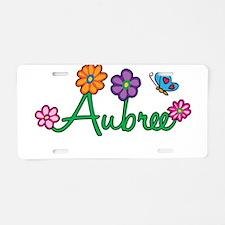 Aubree Flowers Aluminum License Plate