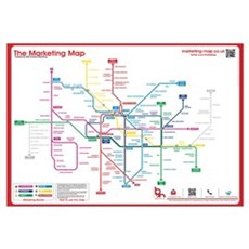 Large Marketing Map Canvas Art