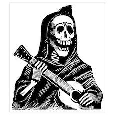 Calavera con Gitarra Poster