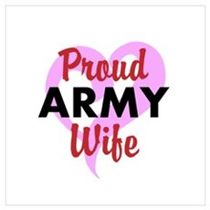 Proud ARMY Wife Framed Print