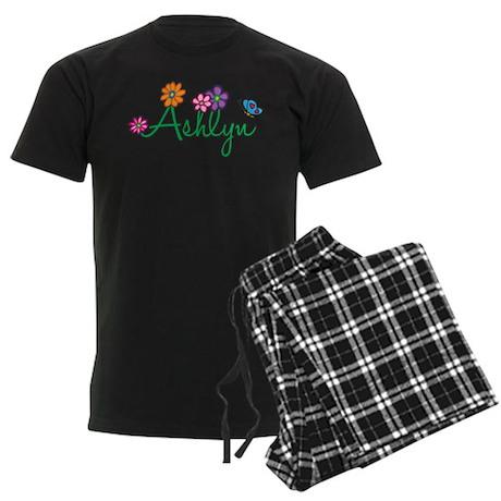 Ashlyn Flowers Men's Dark Pajamas