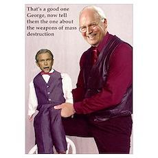 Anti Bush Ventriloquist Poster