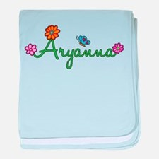 Aryanna Flowers baby blanket