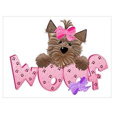 Yorkiegirl Woof Poster