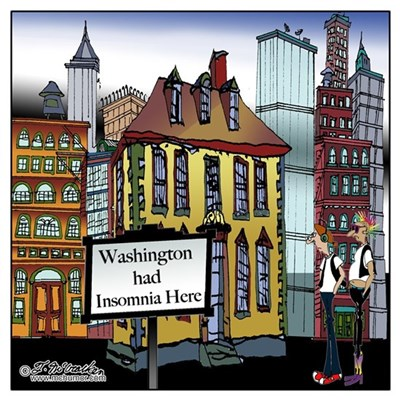 Washington Had Insomnia Here Canvas Art