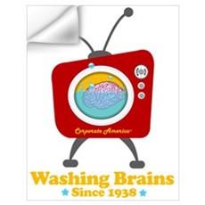 Washing Brains - Since 1938 Wall Decal