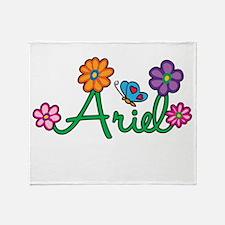 Ariel Flowers Throw Blanket