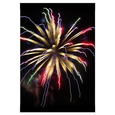 - Fireworks (Single Burst) Framed Print