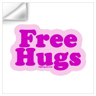 Free Hugs Wall Decal