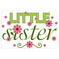 Little Sister Garden Flowers Poster