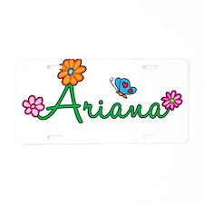 Ariana Flowers Aluminum License Plate