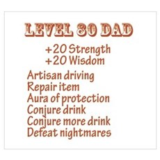 Level 80 Dad Poster