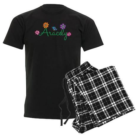 Aracely Flowers Men's Dark Pajamas