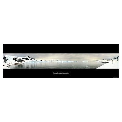 Panorama - Cuverville, Antarctica Poster