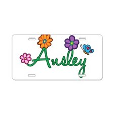 Ansley Flowers Aluminum License Plate