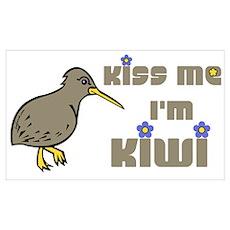 Kiss Me I'm Kiwi Poster