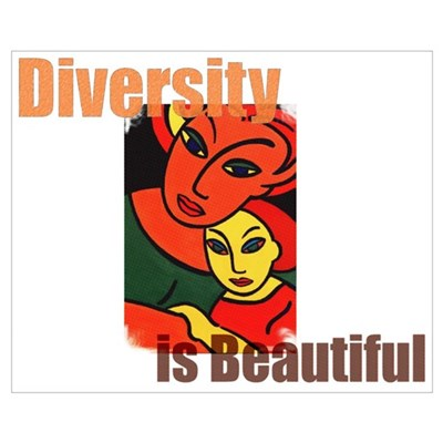 Diversity is Beautiful (2) Framed Print