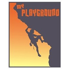 My Playground Rock Climbing Poster