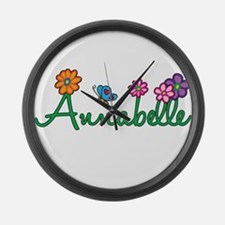 Annabelle Flowers Large Wall Clock