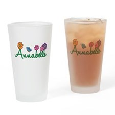 Annabelle Flowers Drinking Glass