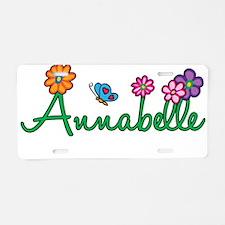 Annabelle Flowers Aluminum License Plate