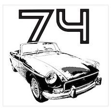 1974 MG Midget Poster