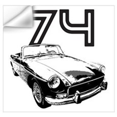 1974 MG Midget Wall Decal