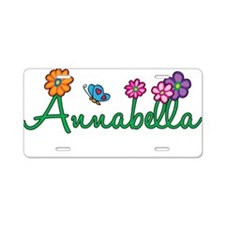 Annabella Flowers Aluminum License Plate