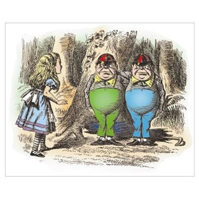 Tweedledum and Tweedledee Canvas Art