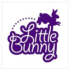 Little Bunny - Purple Poster