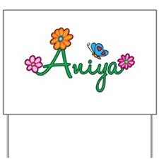 Aniya Flowers Yard Sign