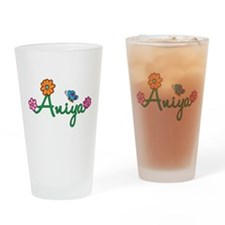 Aniya Flowers Drinking Glass