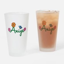 Aniya Flowers Drinking Glass