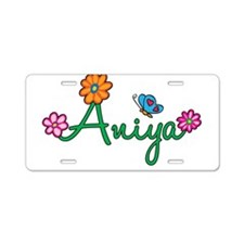 Aniya Flowers Aluminum License Plate