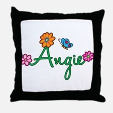 Angie Flowers Throw Pillow