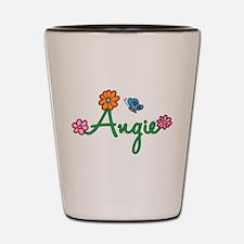 Angie Flowers Shot Glass
